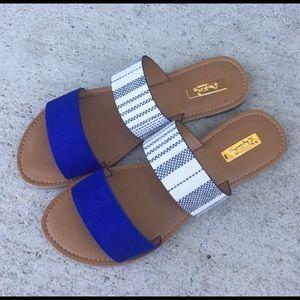 Qupid Shoes - ⭐️Blue Slip on Sandals, Flats